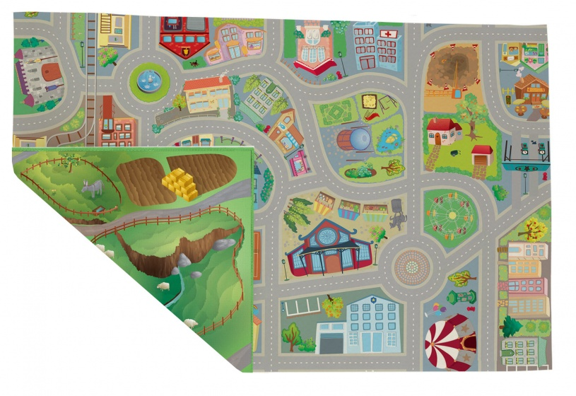 House of Kids Speelkleed Reverso F/C Road 100 x 150 cm