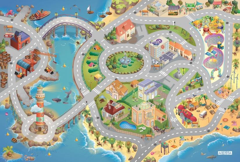 House of Kids Speelkleed Seaside Quadri Connect 100 x 150 cm