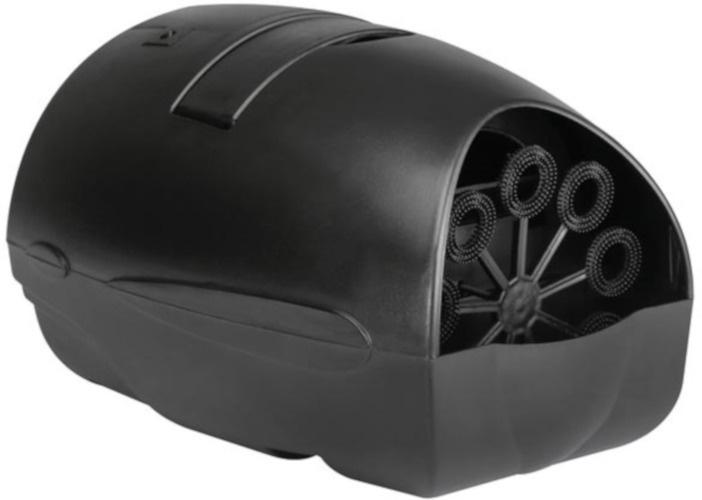 HQ Power zeepbellenmachine 21,5 x 17,5 cm 140 ml zwart