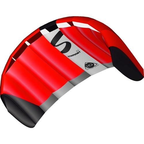 HQ Kites tweelijnsmatrasvlieger Symphony Pro 1.3 Neon Red 130 rood