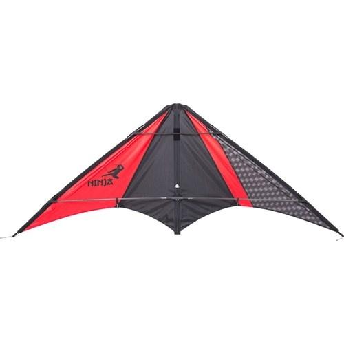 HQ Kites tweelijnsvlieger Ninja 162 cm rood/zwart