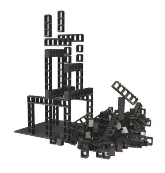 Hubelino knikkerbaan constructie elementen 77 delig
