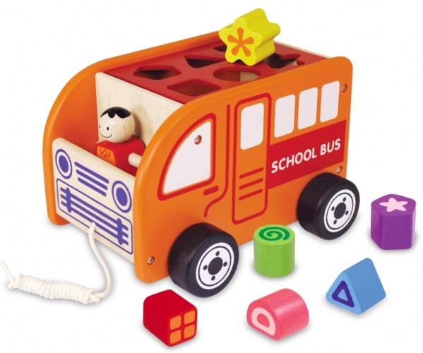 I'm Toy Houten Schoolbus Vormenstoof