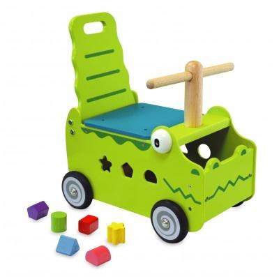 I'm Toy Loop en duwwagen krokodil 42 x 38 x 24 cm groen