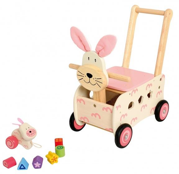 I'm Toy Loopduwwagen Konijn Roze