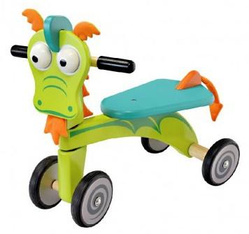 I'm Toy Loopfiets Draak 49,5 x 44 x 30,5 cm groen/blauw