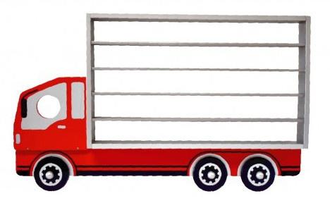 I'm Toy Multifunctionele vrachtwagen 65 x 49,5 x 8,5 cm hout