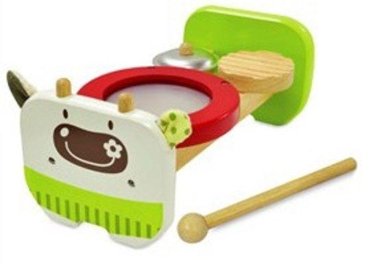 I'm Toy Muziekbank Koe Groen 12 X 23,5 X 10 cm