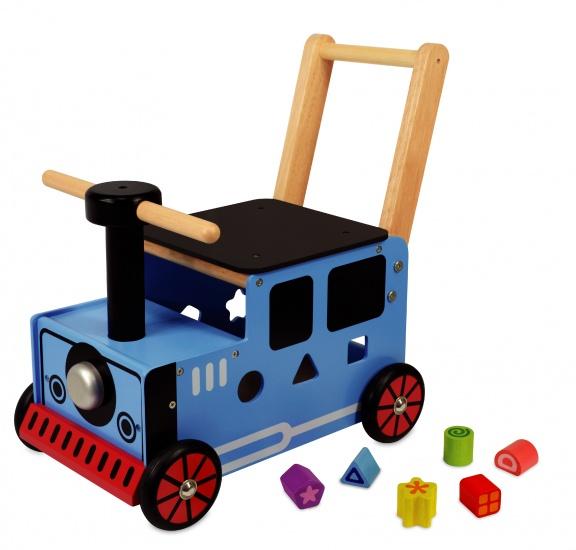 I'm Toy Rubberhouten Loopduwwagen Trein