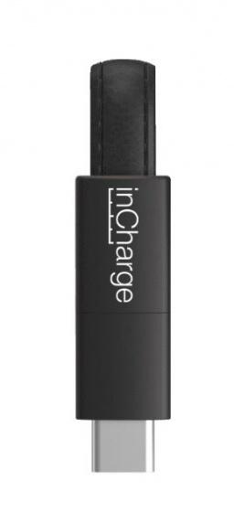 inCharge oplaadkabel Dual Micro USB/iPhone/USB C zwart