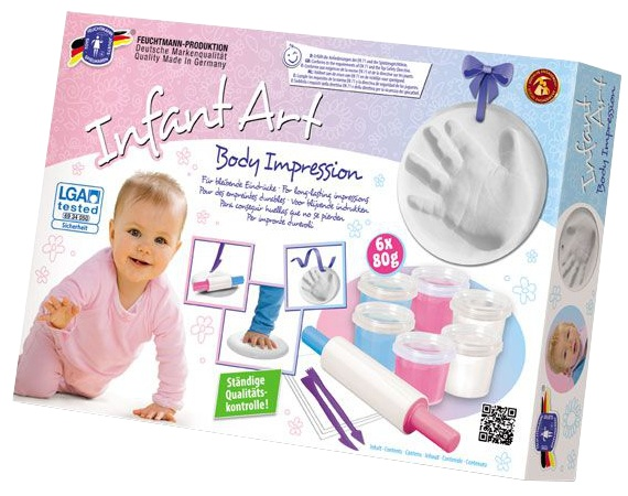 Feuchtmann Infant Art Body Impression: handafdruk klei