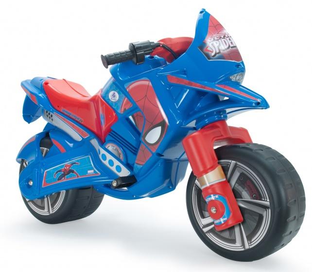 Injusa accuvoertuig motorbike claws spider man 6v 100 cm blauw internet toys - Spider man moto ...