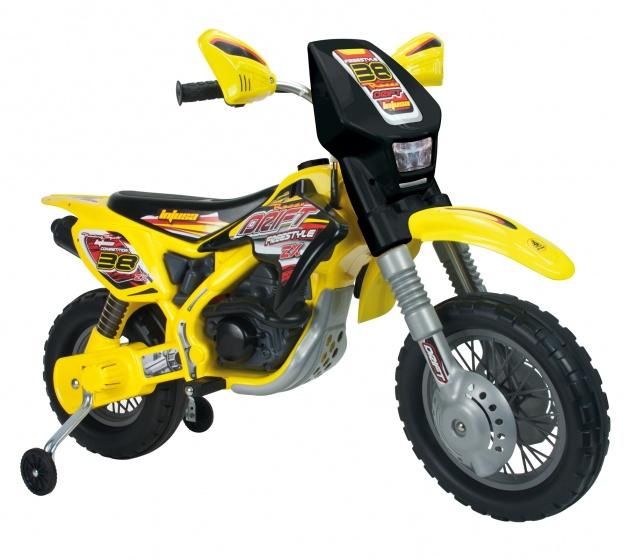 Injusa accuvoertuig motorbike thunder max 12v 115 cm geel 227772