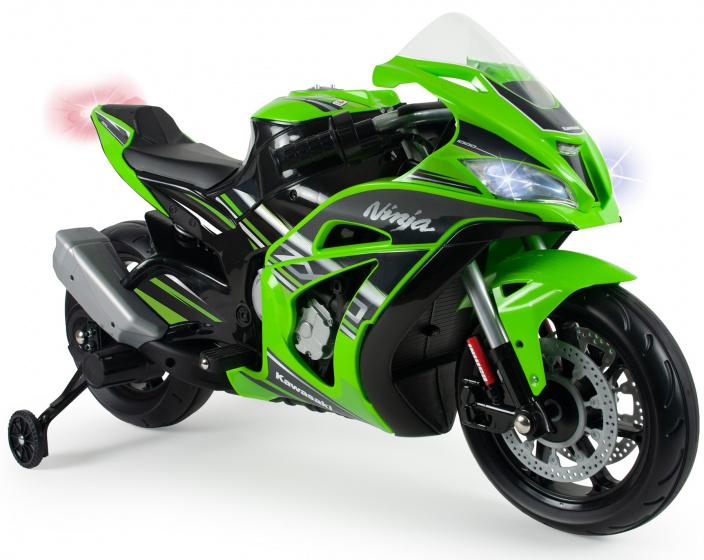 Injusa accuvoertuig motorfiets Kawasaki ZX10 12V groen/zwart