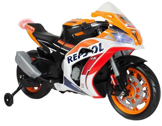 Injusa accuvoertuig motorfiets Repsol 12V 113 cm oranje/wit