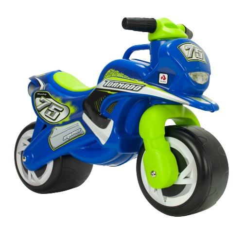 Injusa loopmotor Tundra Tornado jongens 69 cm blauw/groen