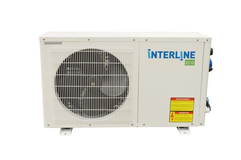 Interline warmtepomp Eco 3 kW 77 x 30 x 49 cm staal grijs