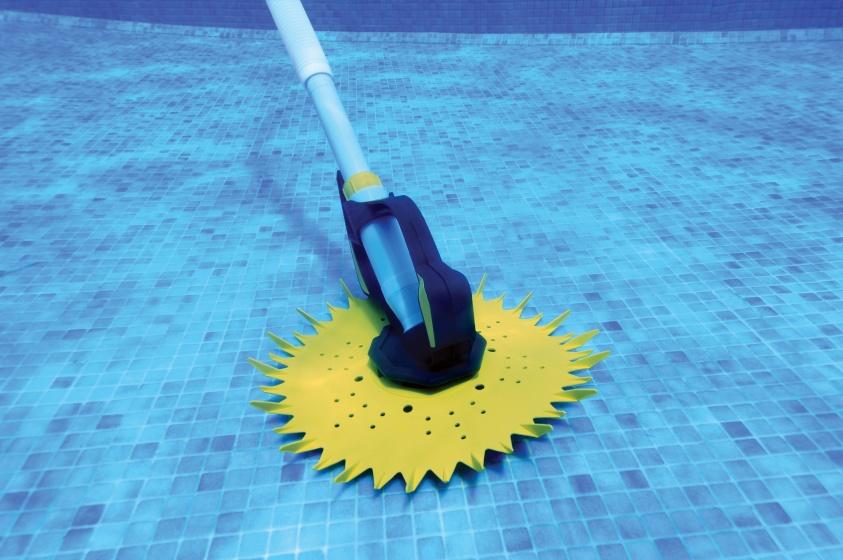 Interline zwembadreiniger Stingray 10 meter grijs-geel