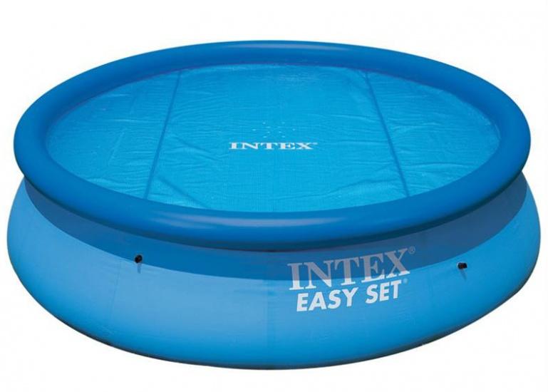 Intex Afdekfolie Solar Cover 244/206 cm blauw