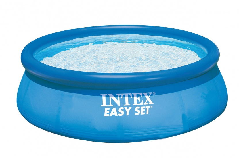 Intex Opblaaszwembad Easy Pool Set 366x76 cm + 12V pomp blauw