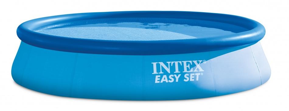 Intex Easy Set Pool Opblaaszwembad 396 x 84 cm blauw