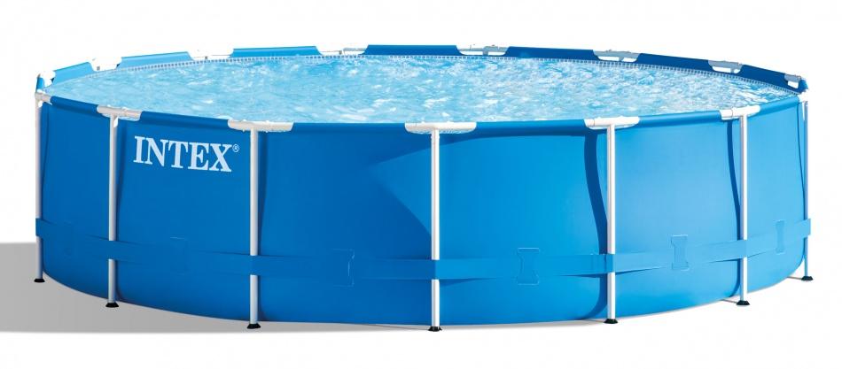 Intex Opzetzwembad Metal Frame Pool Set 732 x 132 cm blauw