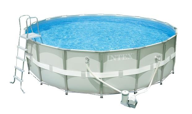 Intex Opzetzwembad Ultra Frame Pool Set 549 x 132 cm grijs