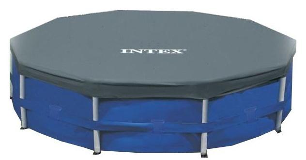 Intex Afdekzeil Round Pool Cover donker blauw 305 cm