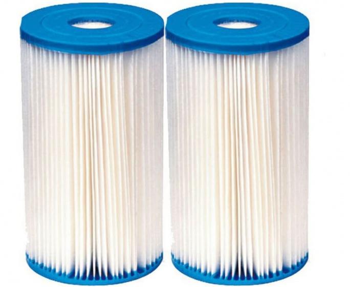 Intex filtercartridge type A wit/blauw 2 stuks