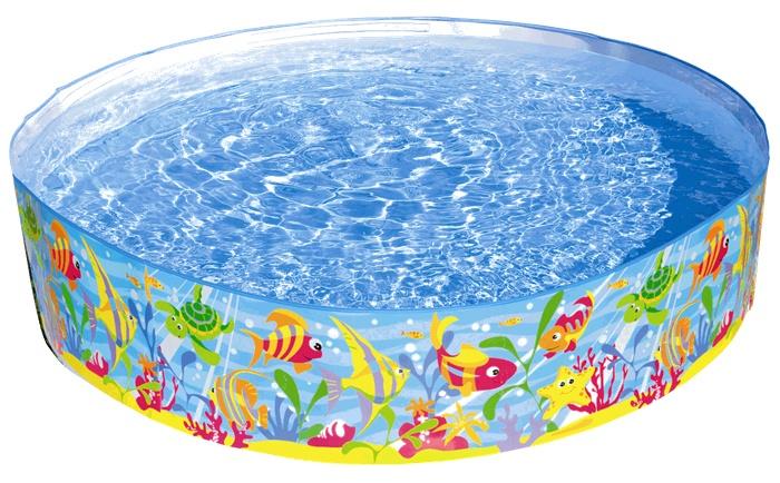 Intex Kinderzwembad Zeedieren 183 x 38 cm blauw