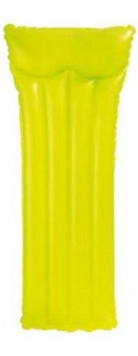Intex luchtbed 183 x 76 cm PVC geel