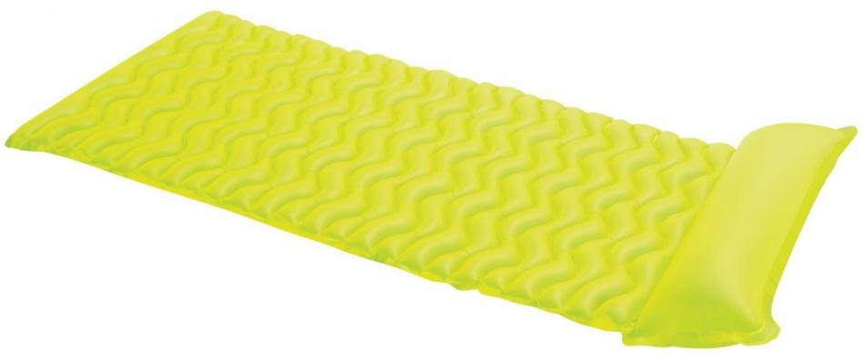 Intex luchtbed geel 229 x 86 cm