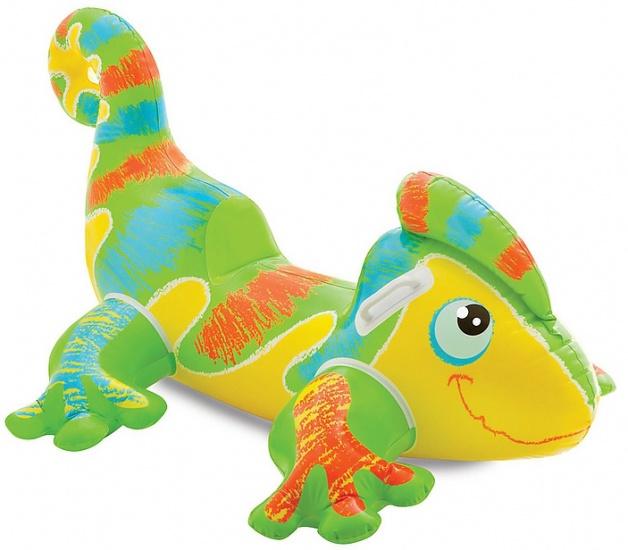 Intex Opblaasbare Dino groen/geel 138 x 91 cm