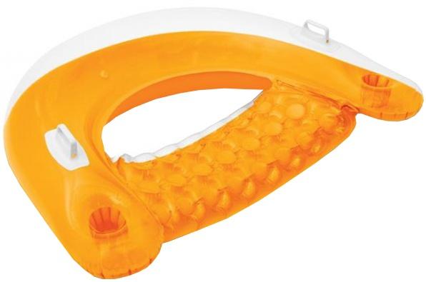 Intex opblaasbare drijvende zitstoel oranje 152 x 99 cm