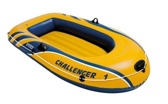Intex Opblaasboot Challenger 1 193 x 108 x 38 cm geel/blauw