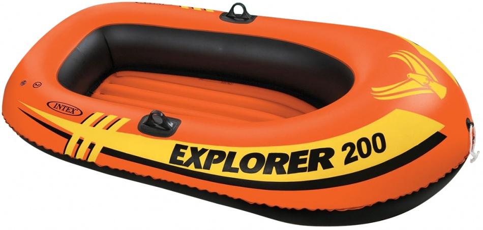 Intex opblaasboot Explorer Pro 200 oranje 196 x 102 x 33 cm