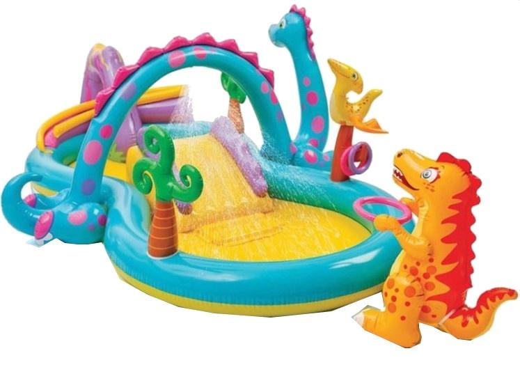Intex opblaaszwembad dino speelcentrum 333 x 229 x 112 cm