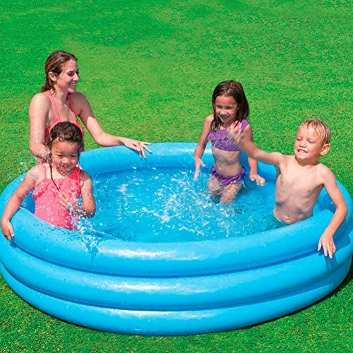 inflatable pool junior 168 x 38 cm vinyl blue