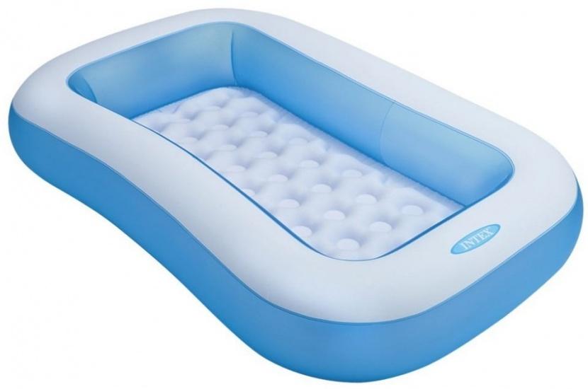 Intex Opblaaszwembad rechthoek blauw 166 x 100 x 28 cm