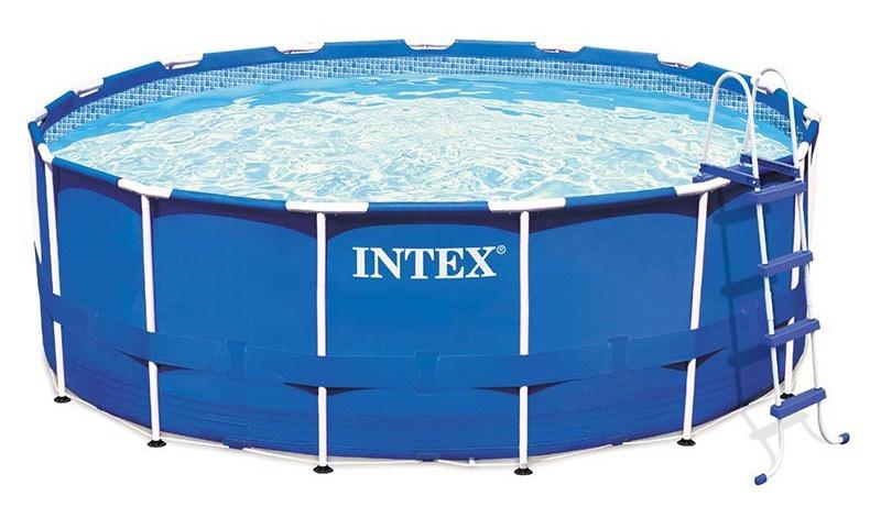 Intex Opzetzwembad Metal Frame Pool Set 457 x 122 cm blauw