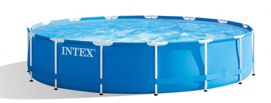 Intex Opzetzwembad Metal Frame Pool Set 457 x 84 cm blauw