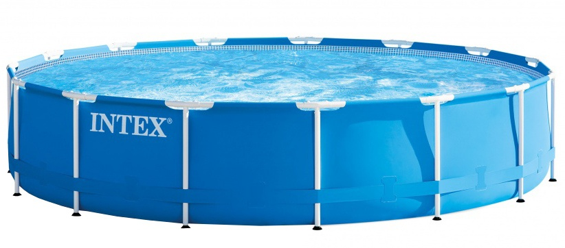 Intex Opzetzwembad Metal Frame Pool Set 457 x 91 cm blauw