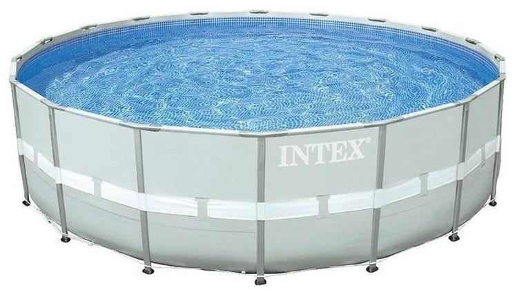 Intex Opzetzwembad Ultra Frame Pool Set 427 x 107 cm grijs
