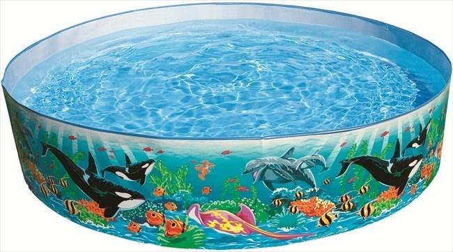 Intex opzetzwembad vissenprint groen 183 cm x 38 cm