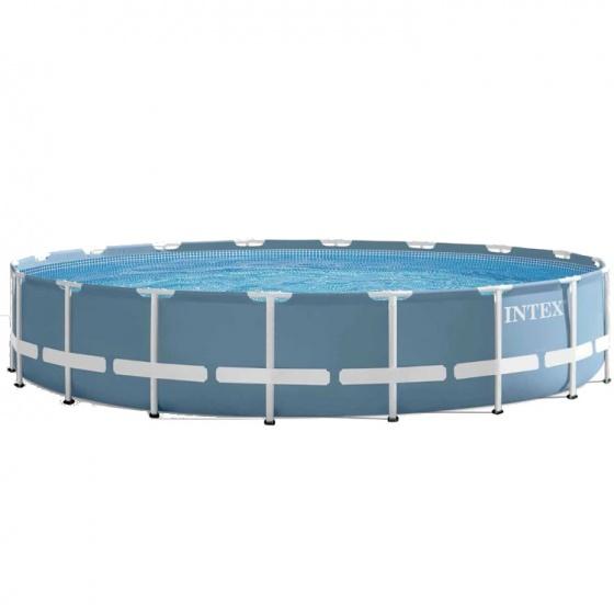 Intex prism frame opzetzwembad met accessoires 457 x 107 for Afdekzeil zwembad blokker
