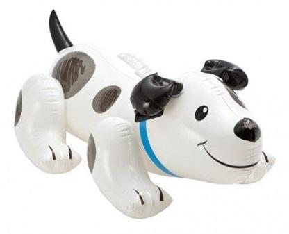Intex Puppy Opblaasdier 108 x 71 cm wit zwart