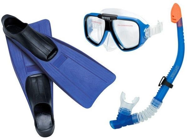 Intex Snorkel set Reef Rider junior blauw