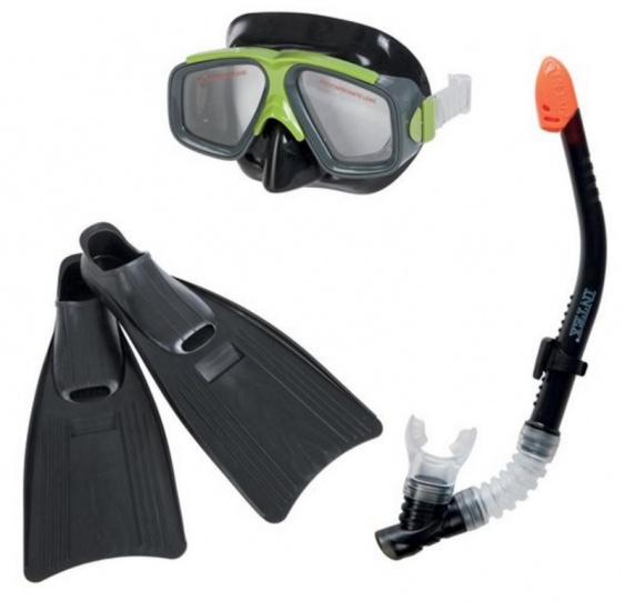 Intex Snorkel set Surf Rider junior zwart/groen