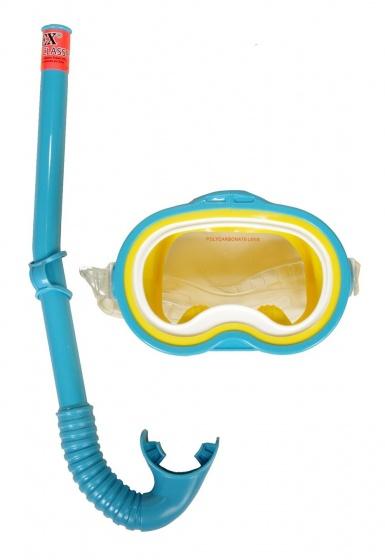 Intex Snorkelset Adventurer Swim set 2 delig junior blauw
