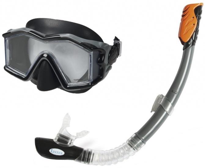Intex Snorkelset Explorer Pro Swim set 2 delig junior zwart